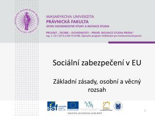 Sociální zabezpečení v EU