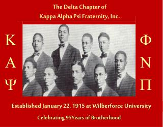 Established January 22, 1915 at Wilberforce University