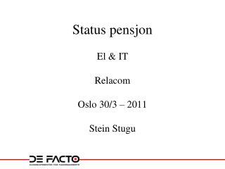 Status pensjon