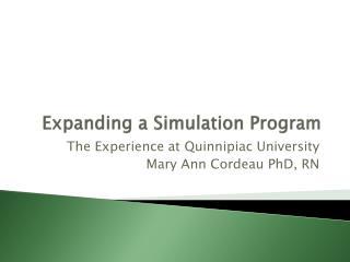Expanding a Simulation Program
