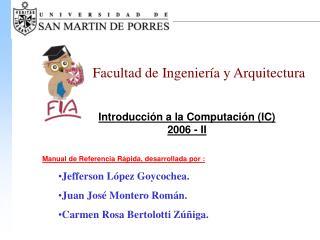 Introducción a la Computación (IC) 2006 - II