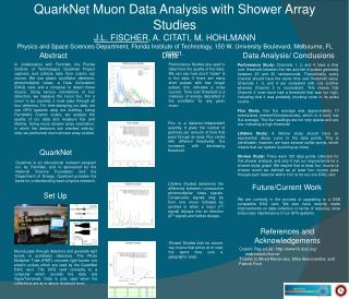 QuarkNet Muon Data Analysis with Shower Array Studies J.L. FISCHER, A. CITATI, M. HOHLMANN Physics and Space Sciences De