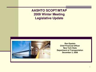 AASHTO SCOPT/MTAP 2009 Winter Meeting  Legislative Update