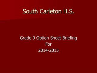 South Carleton H.S.