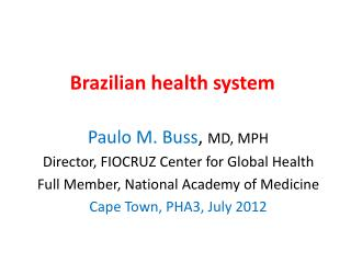 Brazilian health system