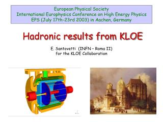 Hadronic results from KLOE