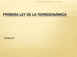 Primera ley de la Termodin�mica