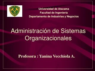 Administración de Sistemas Organizacionales