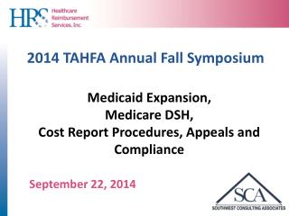 2014  TAHFA Annual Fall  Symposium