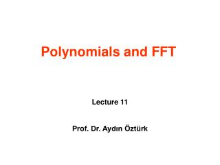 Polynomials and FFT