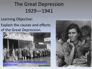 The Great Depression 1929—1941