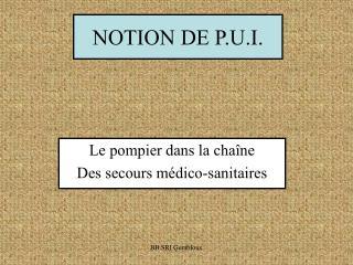 NOTION DE P.U.I.
