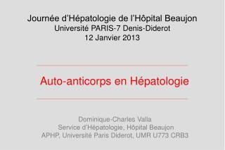 Auto-anticorps en Hépatologie