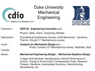 Duke University Mechanical Engineering