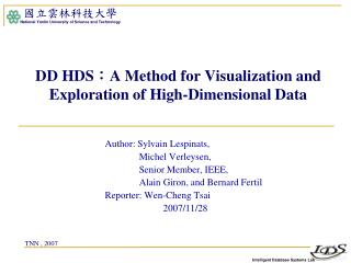 DD HDS : A Method for Visualization and Exploration of High-Dimensional Data