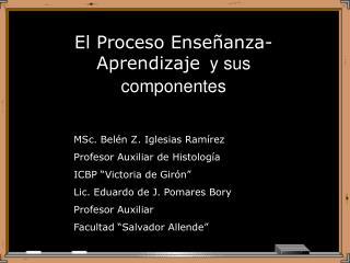 El Proceso Ense�anza-Aprendizaje   y sus componentes
