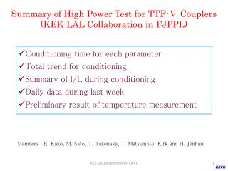 Summary of High Power Test for TTF-Ⅴ Couplers (KEK-LAL Collaboration in FJPPL)
