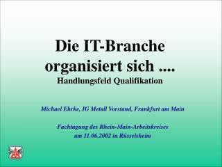 Die IT-Branche  organisiert sich .... Handlungsfeld Qualifikation