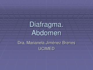 Diafragma. Abdomen