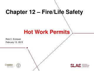 Chapter 12 – Fire/Life Safety