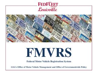 FMVRS Federal Motor Vehicle Registration System