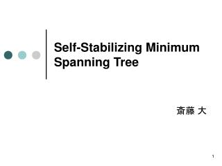 Self-Stabilizing Minimum Spanning Tree