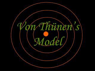 Von Thünen's Model