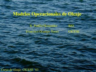 Modelos Operacionales de Oleaje