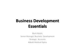 Business Development Essentials
