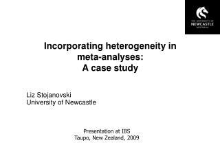 Incorporating heterogeneity in  meta-analyses:  A case study