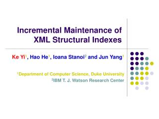 Incremental Maintenance of XML Structural Indexes