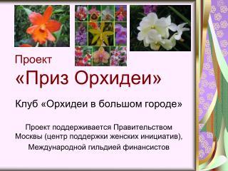 Проект «Приз Орхидеи»
