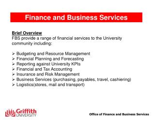 Finance and Business Services