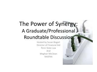 The Power of Synergy: A Graduate/Professional Roundtable Discussion