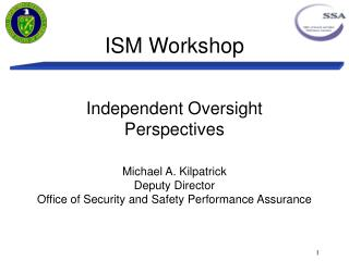 ISM Workshop