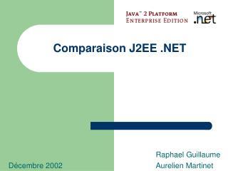 Comparaison J2EE .NET