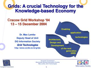 Grids: A crucial Technology for the  Knowledge-based Economy