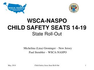 WSCA-NASPO CHILD SAFETY SEATS 14-19 State Roll-Out