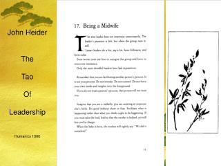 John Heider   The   Tao   Of   Leadership   Humanics 1986