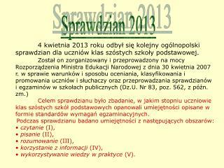 Sprawdzian 2013