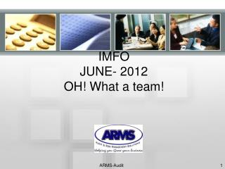 IMFO JUNE- 2012 OH! What a team!