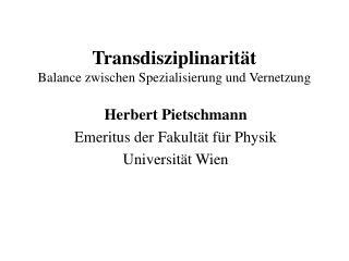 Transdisziplinarität Balance zwischen Spezialisierung und Vernetzung