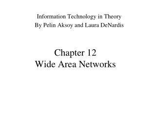 Chapter 12 Wide Area Networks