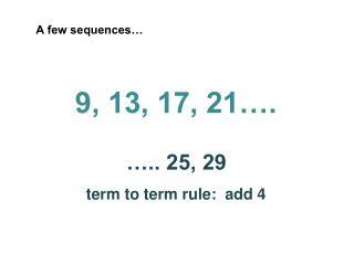 A few sequences…