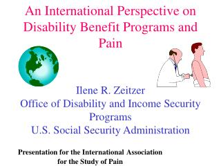 Presentation for the International Association for the Study of Pain