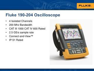 Fluke 190-204 Oscilloscope