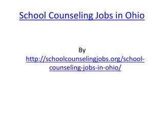 School Counseling Jobs in Ohio