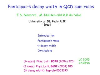 Pentaquark decay width in QCD sum rules