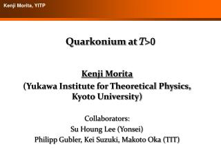 Quarkonium at  T > 0