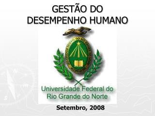 GESTÃO DO  DESEMPENHO HUMANO